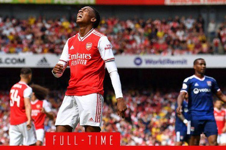 Arsenal kalah dari Lyon pada pertandingan Piala Emirates 2019 di Stadion Emirates, 28 Juli 2019.