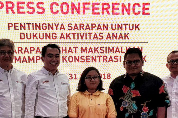 Konferensi pers kampanye ?Sarapan Bernutrlsi Agar Perut Terisl Slap Konsentrasi dari Energen, Jakarta, Selasa (31/7/2018).