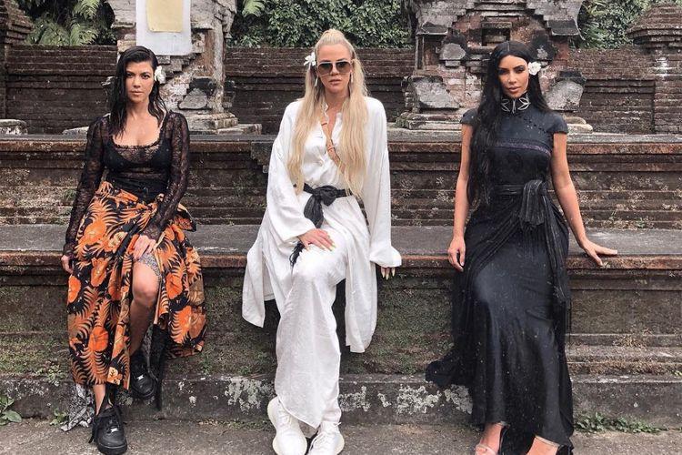 Salah satu unggahan foto Kim Kardashian ketika berlibur di Bali.