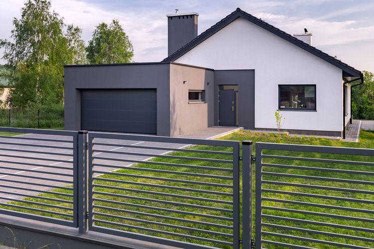 Ilustrasi pagar rumah minimalis.