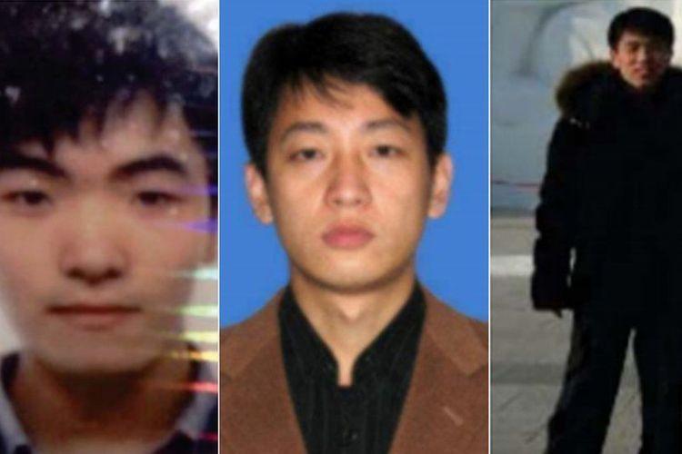 Pelaku kejahatan dari Korea Utara Kim Il, Park Jin Hyok, and Jon Chang Hyok. [Department of Justice Via BBC]