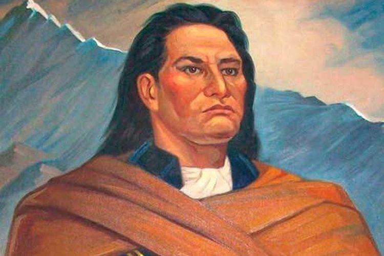 Ilustrasi Tupac Amaru II, tokoh pemberontakan Peru atas Spanyol pada 1780-an.