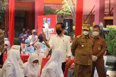 Tinjau Vaksinasi Pelajar, Jokowi Puji Pembelajaran Tatap Muka di Banten
