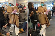 Takut Corona, Naomi Campbell Pakai Hazmat dan Masker N95 di Bandara