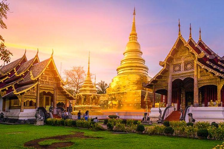 Wat Phra Singh di Chiang Mai, Thailand.