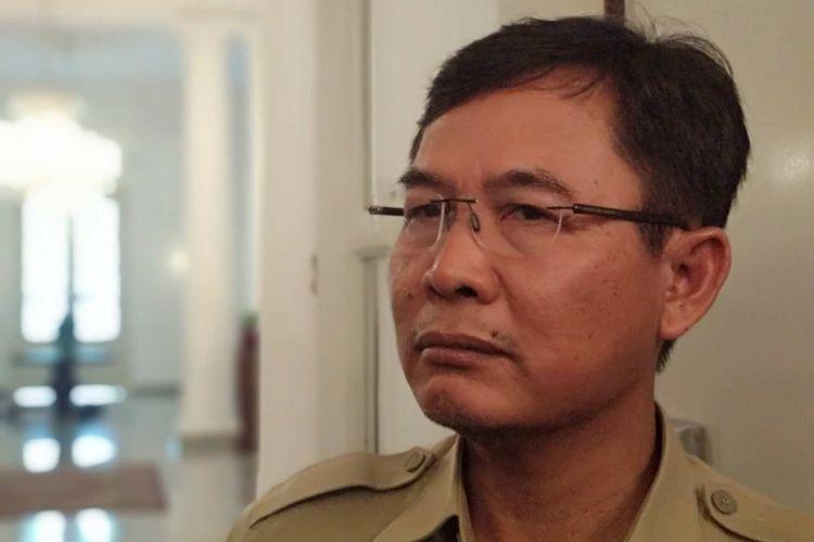 Yusmada Faizal saat jadi Kepala Dinas Bina Marga DKI Jakarta di Balai Kota, Selasa (6/3/2018).