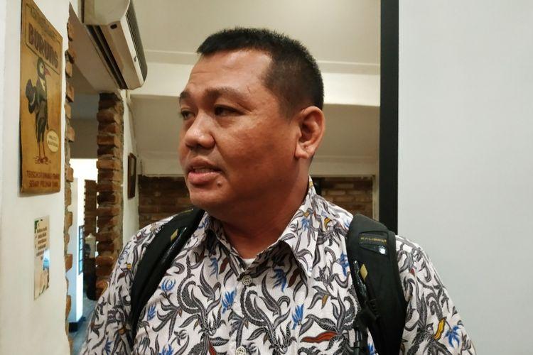 Direktur Eksekutif Southeast Asia Freedom of Expression Network (SAFEnet), Damar Juniarto, di Cikini, Jakarta Pusat, Selasa (17/12/2019).