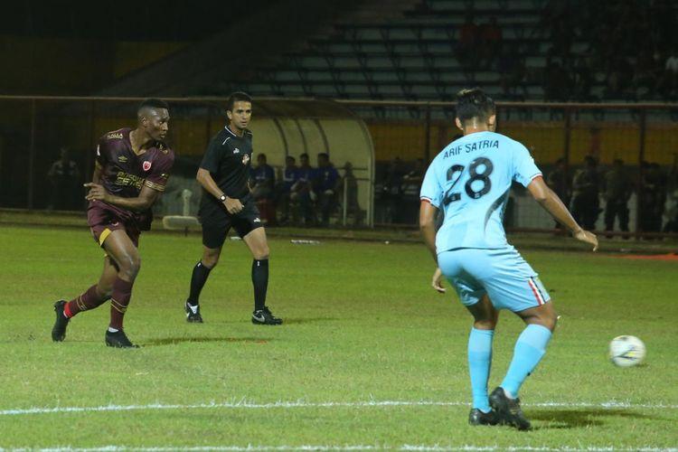 Striker anyar PSM Makassar melakukan debut pada laga melawan Persela Lamongan,