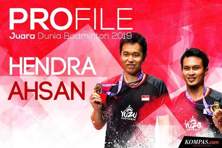 Infografik: Profil Juara Dunia Badminton Ahsan/Hendra
