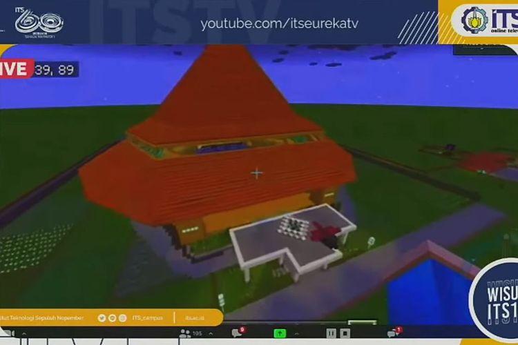 Graha Sepuluh Nopember ITS yang dirancang di game Minecraft.