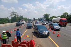 Urai Kepadatan di Tol Jakarta-Cikampek, Contraflow Diberlakukan di Km 47