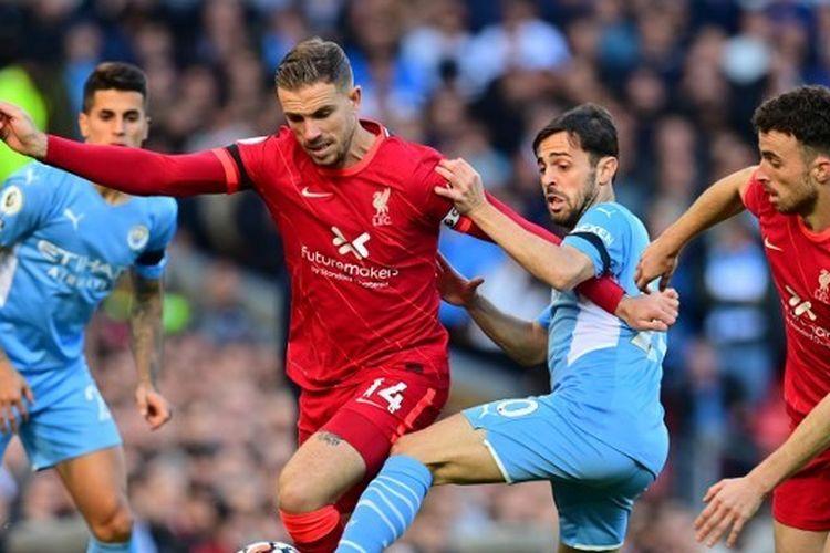 Pertandingan Liverpool vs Man City pada pekan ketujuh Liga Inggris 2021-2022 di Stadion Anfield, Minggu (3/10/2021) malam WIB.