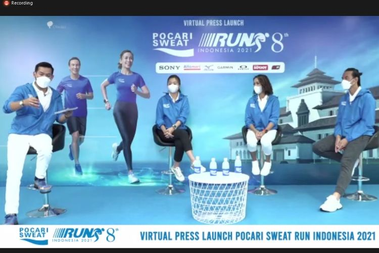 Virtual Press Launch Pocari Sweat Run Indonesia, Foto: tangkapan layar virtual press launch Pocari Sweat Run Indonesia 2021