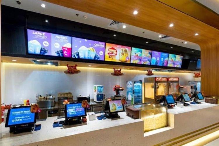 Candy Bar atau tempat membeli popcorn dan minuman di bioskop Cinepolis.