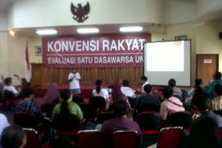 Aktivis Koalisi Reformasi Pendidikan menggelar acara