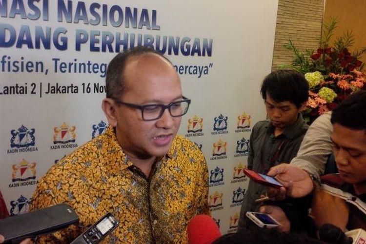 Ketua Kamar Dagang dan Industri Rosan Roeslani, di Rapat Koordinasi Nasiona Kadin Bidang Perhubungan, di Graha CIMB Niaga, Jakart, Rabu (16/11/2016).