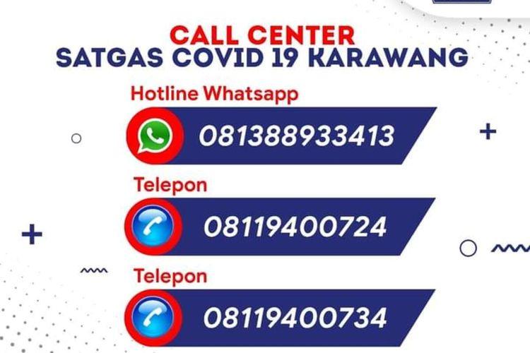 Nomor Call Center Satgas Penanganan Covid-19 Karawang