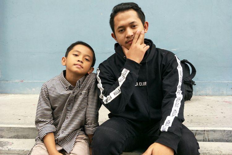 YouTuber kakak beradik Diwan dan Fikri (kanan) ditemui di kawasan Mampang, Jakarta Selatan, Kamis (4/7/2019).