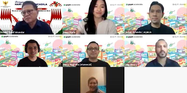 Tangkapan layar konferensi online Gojek Xcelerate yang diadakan melalui Zoom pada Rabu (1/7/2020).
