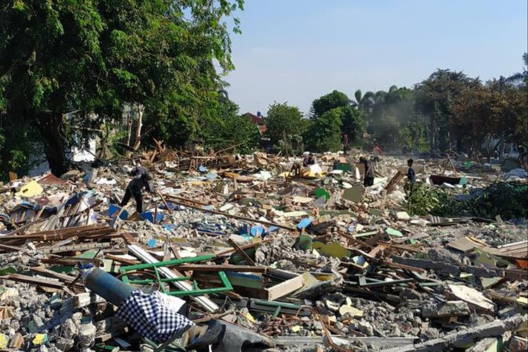 Lahan hasil gusuran perumahan warga di Jalan Bougenville Raya RT 001 RW 011, Jakasampurna, Bekasi Barat.