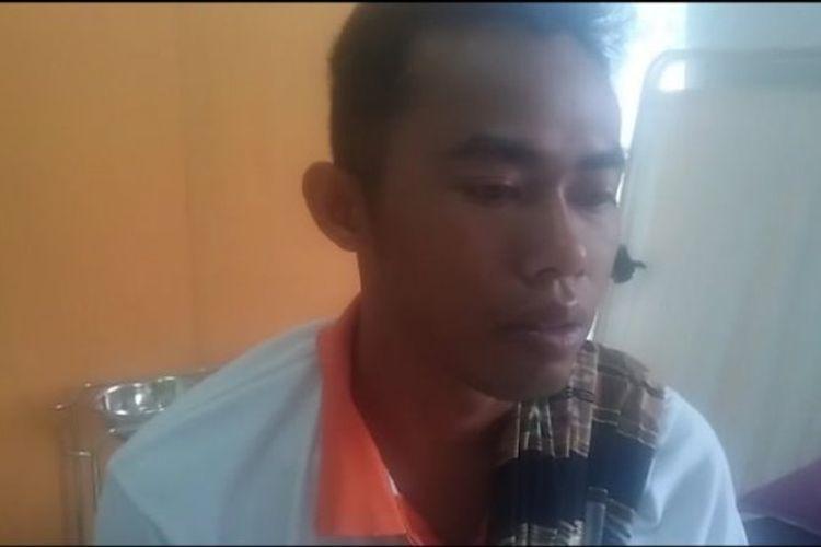 Riko Saputra, penumpang selamat KM Sinar Bangun yang tenggelam di Danau Toba, Sumatera Utara, Senin (18/6/2018).