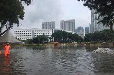 Baru Surut, Underpass Kemayoran Tenggelam Lagi, Kini Banjir Sekitar 7 Meter