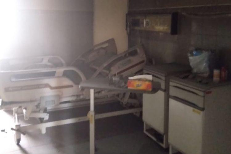 Ruangan isolasi di RSUD Tugurejo Semarang yang terbakar pada Kamis (22/10/2020).