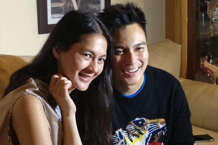 Baim Wong dan Paula Verhoeven saat ditemui kawasan Cikini, Jakarta Pusat, Jumat (7/6/2019).