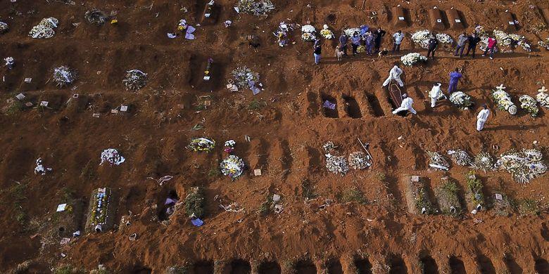 Lewati Rusia, Brasil Catatkan Kasus Covid-19 Terbanyak Kedua di Dunia