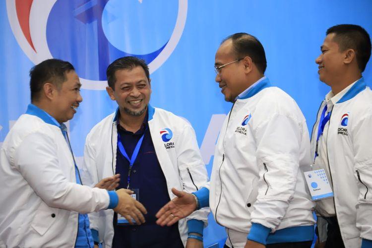 Wakil Gubernur Kalimantan Timur Hadi Mulyadi bersama Ketua Umum Anis Matta, saat menerima SK Ketua DPW Partai Gelora Kaltim di Jakarta, Jumat (10/11/2019).