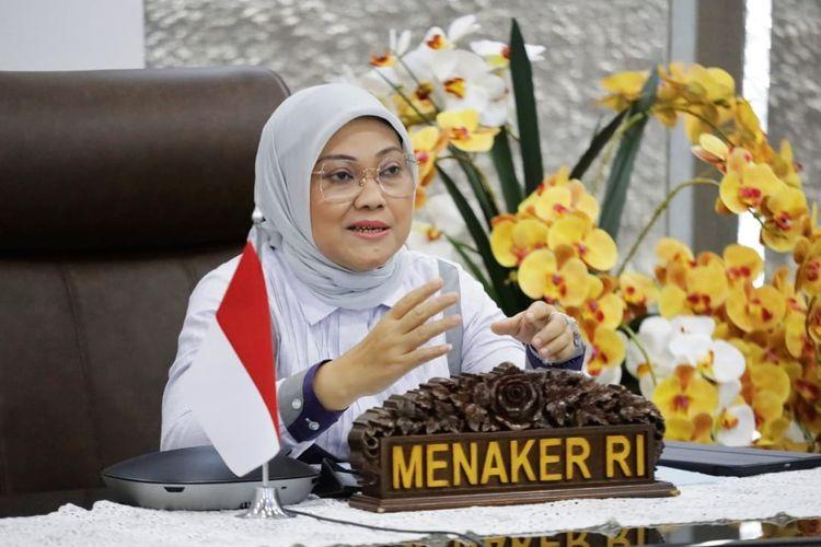 Menteri Ketenagakerjaan (Menaker) Ida Fauziyah menerima audiensi Lembaga Pendidikan dan Pelatihan Mooryati Soedibyo (LPPMS) secara virtual di Jakarta, Selasa (22/6/2021).