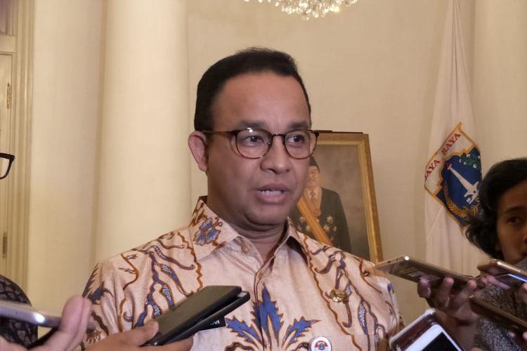 Gubernur DKI Jakarta Anies Baswedan di Balai Kota DKI Jakarta, Jalan Medan Merdeka Selatan, Jakarta Pusat, Selasa (25/6/2019).
