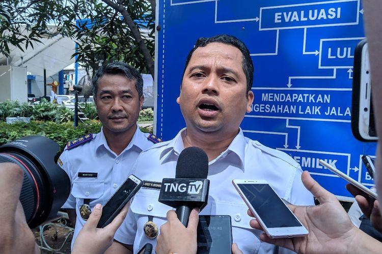 Wali Kota Tangerang Arief Wismansyah saat ditemui di UPTD Kendaraan bermotor Jalan Daan Mogot Kota Tangerang, Rabu (19/2/2020)