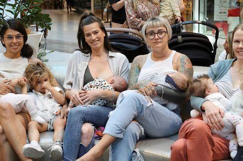 Ibu-ibu Ini Berunjuk Rasa dengan Cara Menyusui di Mal Australia