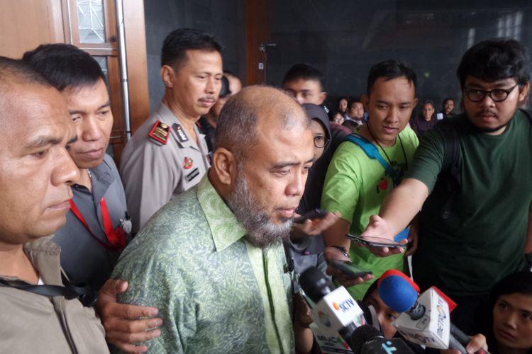 Mantan Hakim Konstitusi, Patrialis Akbar, menjadi terdakwa di Pengadilan Tipikor Jakarta, Selasa (13/5/2017).