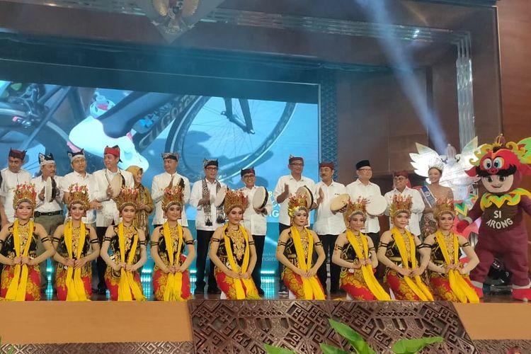 Peluncuran Calendar of Event 2020 Banyuwangi di Balairung Soesilo Soedarman, Gedung Sapta Pesona, Jakarta, Rabu (8/1/2020).