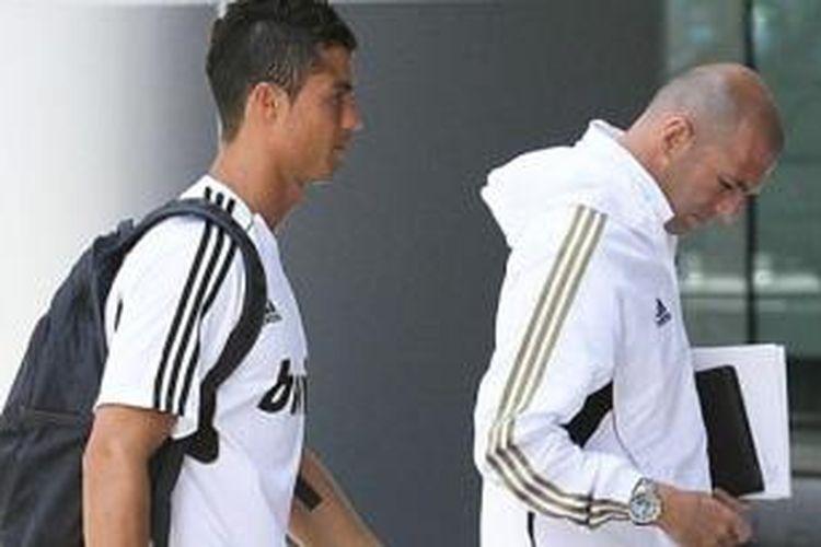 Cristiano Ronaldo dan ZInedine Zidane