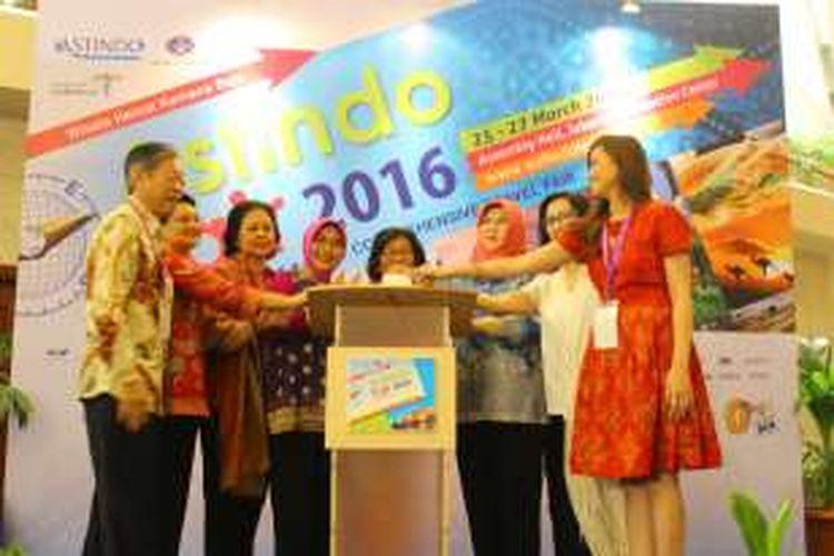 Pembukaan pameran Astindo Fair 2016 di Jakarta Convention Centre (JCC). Pameran berlangsung 25-27 Maret 2016.