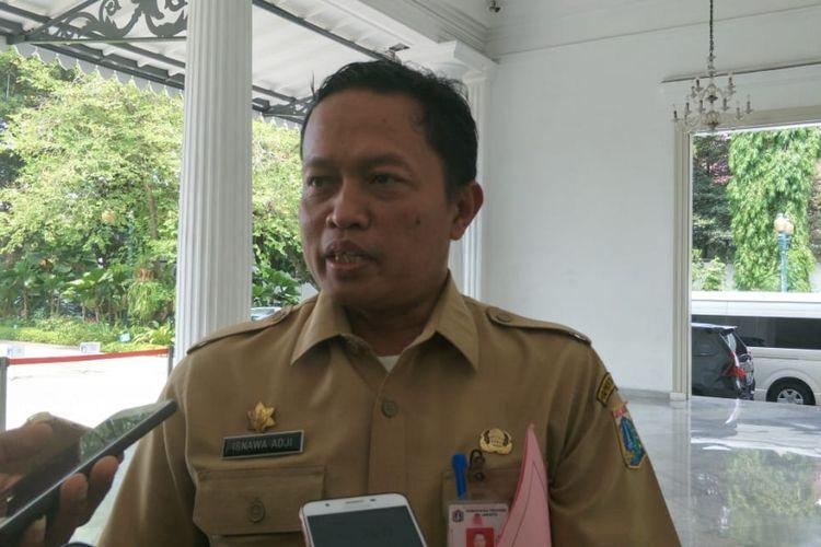 Kepala Dinas Lingkungan Hidup DKI Jakarta Isnawa Adji di Balai Kota DKI Jakarta, Jalan Medan Merdeka Selatan, Senin (22/10/2018).