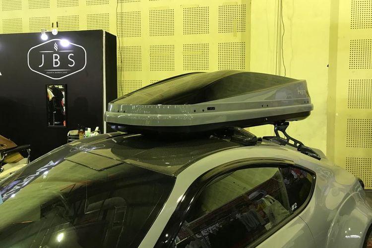 Ilustrasi Roof box Thule pada Toyota 86