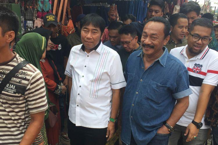 Wakil Ketua DPRD DKI Jakarta Abraham Lulung Lunggana  mendatangi kawasan Pasar Tanah Abang, Jumat (22/12/2017).