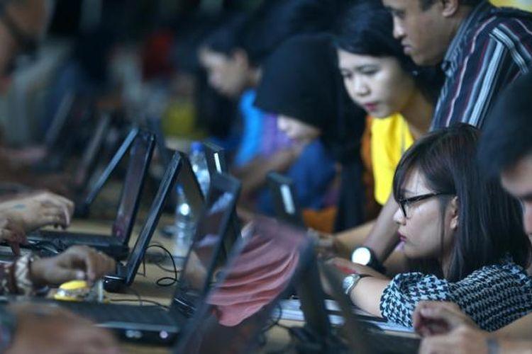 Ilustrasi: para pencari kerja