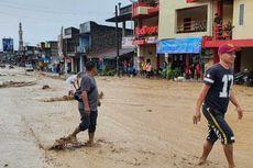 Luapan Air Sungai yang Membuat Banjir di Parapat Berangsur Surut