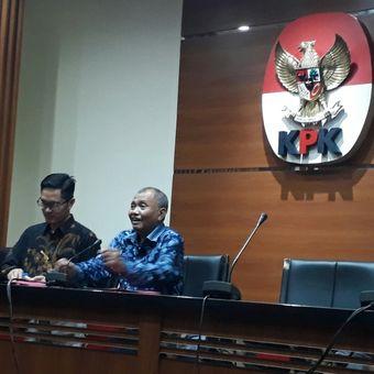 Ketua KPK Agus Rahardjo, dalam jumpa pers di gedung KPK, Kuningan, Jakarta, Selasa (3/4/2018).