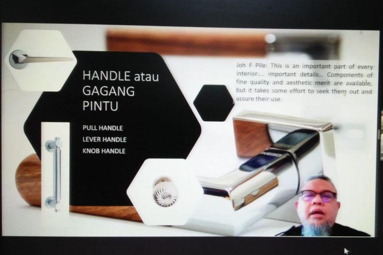Seminar yang diselenggarakan oleh Himpunan Desainer Interior Indonesia (HDII) bersama Institut Teknologi Nasional (ITENAS) Bandung dan didukung oleh perusahaan kunci Kenari Djaja dan media partner Asrinesia serta Property & Bank yang diikuti sebanyak 320 peserta.
