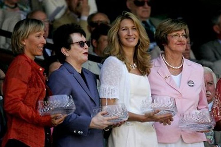 Para legenda tenis masa lalu: Martina Navratilova, Billie Jean King, Steffi Graf dan Margaret Court
