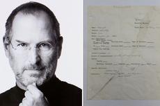 Surat Lamaran Pekerjaan Steve Jobs Dilelang Seharga Rp 3,2 Miliar