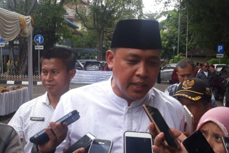 Wakil Wali Kota Bekasi Tri Adhianto saat ditemui di Masjid Al-Barkah, Jumat (1/3/2019).