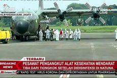 Pesawat Hercules Pembawa Alat Kesehatan dari China Tiba di Bandara Halim