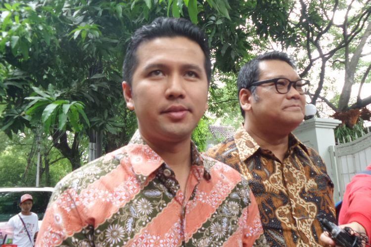 Bupati Trenggalek Emil Dardak di kediaman Megawati Soekarnoputri di Jalan Teuku Umar, Jakarta, Sabtu (14/10/2017).